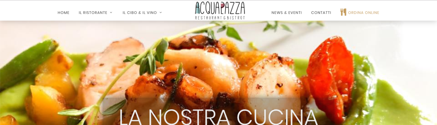 www.acquapazzaristorantebistrot.it